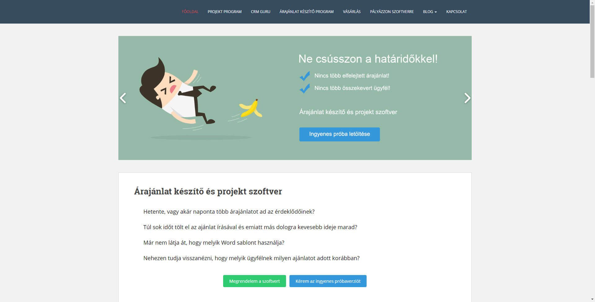 Projekt kezelő szoftver